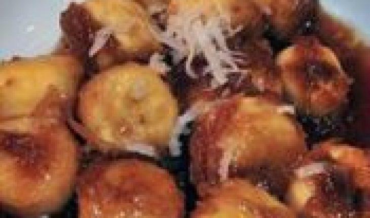 Resep Roti Goreng Pisang saus gula merah