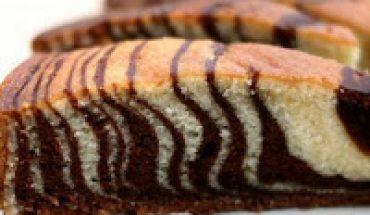 Resep Cara membuat Kue Zebra bintik coklat enak lembut